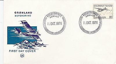 First day cover, Greenland, Scott #83, Seaplane, 1976