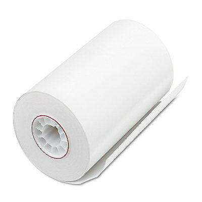 """Single Ply Thermal Cash Register/pos Rolls, 3 1/8"""" X 90 Ft., White, 72/ct-PMC052"""
