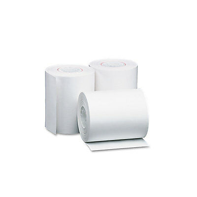 """Single Ply Thermal Cash Register/pos Rolls, 4 3/8"""" X 127 Ft., White, 50/ct-PMC05"""