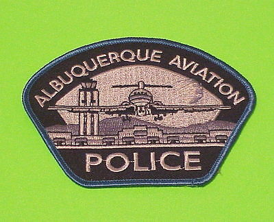 Albuquerque  New Mexico  Aviation  ( Blue Border )  Police Patch  Free Shipping!