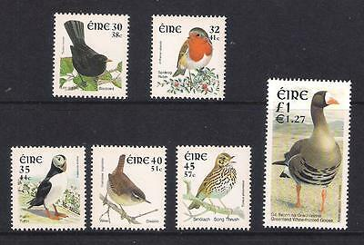 Ireland Eire stamps - 2001 Birds, Dual Currency, SG1424/1429, MNH