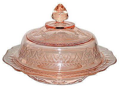 Federal Patrician Pink Butter Dish