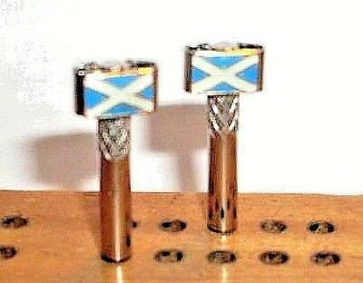 Cribbage Pegs,2 Flags of Scotland Scottih ChristyMade. Free Black Velvet Bag  a