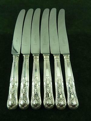 6 nice Sheffield EPNS Dinner Table knives kings pattern silver plated