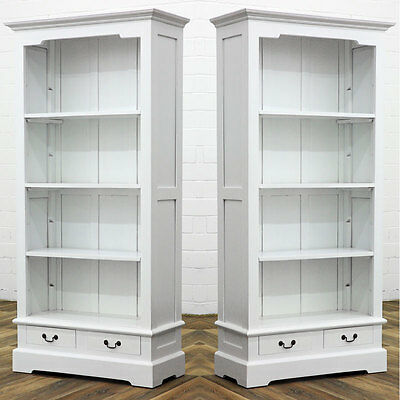 massivholz b cherregal antik weiss buch schrank regal m bel bibliothek eur 489 00. Black Bedroom Furniture Sets. Home Design Ideas