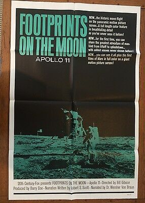 """Footprints On The Moon Original US One-Sheet Movie Poster Apollo 11 27 x 41"""""""