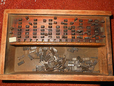 Antique printers type face set letters numbers mixed lots spare parts