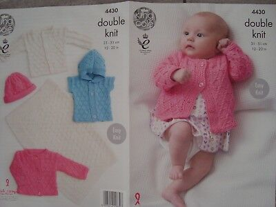 King Cole 4430 Babies Blanket Cardigans,Gilet Hat  DK Knitting PatternSizes12-20