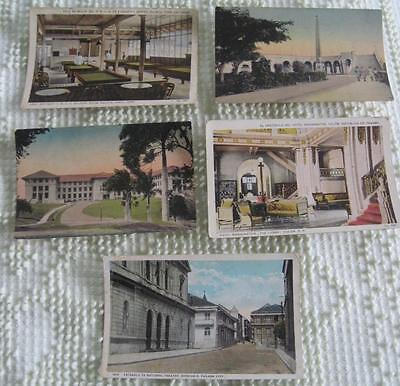 Five Vintage Color Sunny Scenes Inc. Panama Postcards