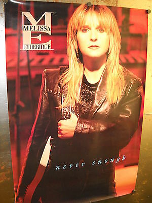 MELISSA ETHERIDGE Large 1992 PROMO POSTER from NEVER ENOUGH supermint condition