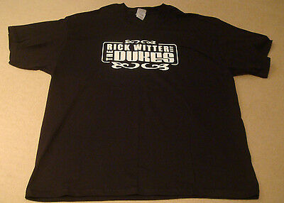 RICK WITTER AND THE DUKES BLACK T-SHIRT SHED 7 seven size XL britpop indie music