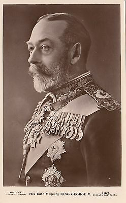 His Late Majesty KING GEORGE V 1936 Photo Vandyk J. Beagles Real Photo PC 410.T