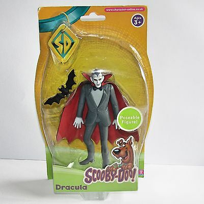 Rare Scooby-Doo  Dracula Toy Figure & Bat (New and Sealed Action Figure 2008)