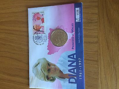 1997 princess diana first day cover and coin cover