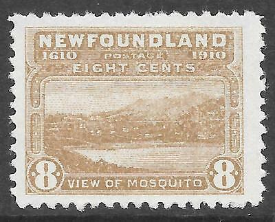 NEWFOUNDLAND 1910 8c bistre-brown P.12, FM hinged. SG 101. Cat.£70.