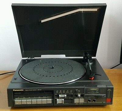 Panasonic SG-X10 stereo automatic turntable, radio and tape player - working