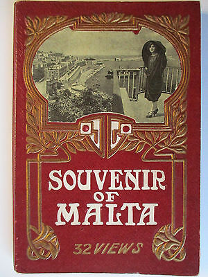 Souvenir of Malta, 32 views, Fotobuch ca. 1920 (44775)