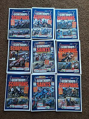 2010 SCUNTHORPE SPEEDWAY PROGRAMMES x 9  ( EXCELLENT CONDITION )
