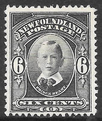NEWFOUNDLAND 1911 6c slate-grey, mint hinged. SG 122.