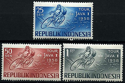 Indonesia 1958 SG#790-2 Java Cycle Race MH Set #D51028