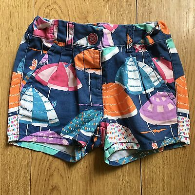 Girls Next Shorts Age 4-5 Years Multi Colour Umbrella - VGC!