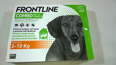 FRONTLINE COMBO For DOGS (2-10 kgs) - 3 Pipettes  Sealed Box