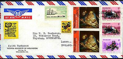 New Zealand 1972 Airmail Cover To UK #C42203