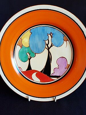 Fantastic Clarice cliff art deco Blue Autumn plate