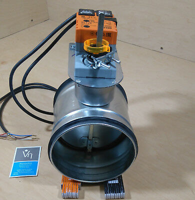 Motorized damper DTBU 80-200mm thight closing circular air duct Belimo LM230A-S
