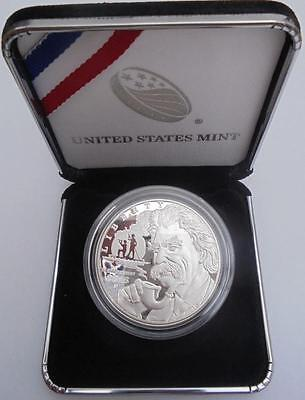 USA 2016 - P Mark Twain $1 Silver Proof One Dollar $1 Coin Cased With COA