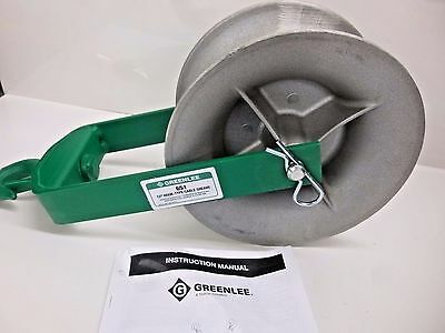 """New!! Greenlee 12"""" Hook Type 651 Cable Puller Sheave"""