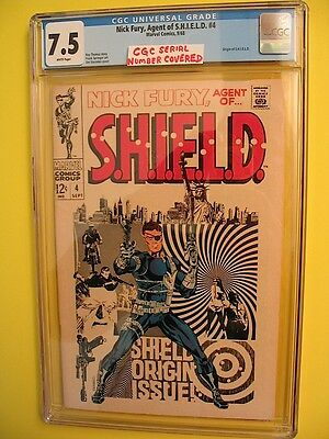 Marvel Comics Nick Fury Agent of S.H.I.E.L.D. # 4 CGC 7.5 SHIELD Steranko 1968
