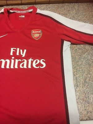 Boys Arsenal Football Top Aged Approx 9-11