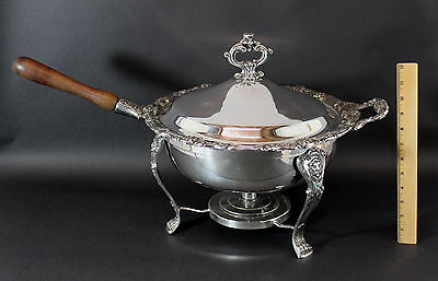 Antique F.B. Rogers & Co Silverplate Handled Chafing Warming Serving Dish NR