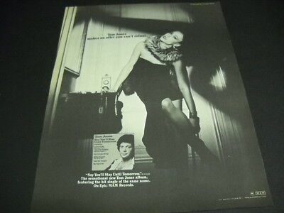 TOM JONES makes you an offer you can't refuse Original 1977 Promo Poster Ad mint