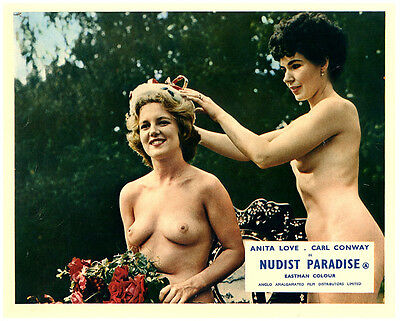 Nudist Paradise 1959 Nature's Paradise nude girl is beauty queen lobby card
