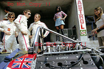 Jochen Rindt & Graham Hill & Jo Siffert Lotus F1 Portrait 1969 Photograph