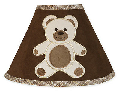 New Sweet Jojo Designs Lamp Shade for Brown Teddy Bear Baby Boy Kid Bedding Set