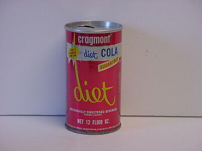Vintage Cragmont Diet Cola Straight Steel Pull Tab Top Opened Soda Can Safeway