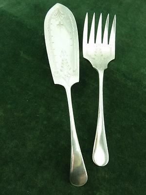 A nice Pair Vintage Mappin & Webb Engraved Fish Servers Silver Plated