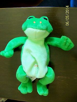 Gund Plush Frog green FLASH Toad Stuffed Animal  Soft Toy All Tags