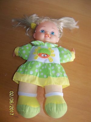 singing baby girl blonde doll sings itsy bitsy spider lovee doll & toy company
