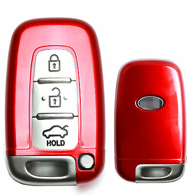 Exact Fit Glossy Red Remote Smart Key Key Shell Holder Cover For Hyundai or Kia