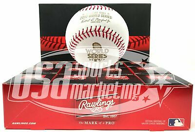(12) Rawlings 2017 World Series MLB Official Game Baseball Boxed - Dozen