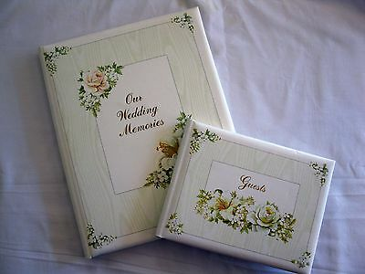 Wedding Record Book and Guest Book Cherished Bouquet OUR WEDDING MEMORIES