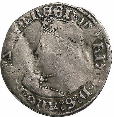 Great Britain Mary 1553-1554 Silver Groat London Mint Medieval Coin S.2492