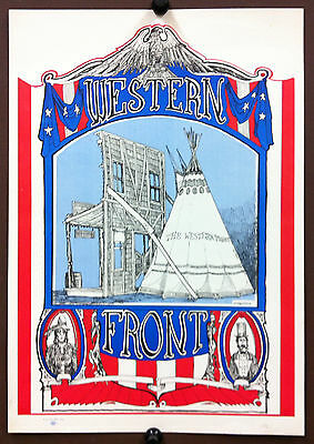 WESTERN FRONT 1967 GREG IRONS Concert Poster