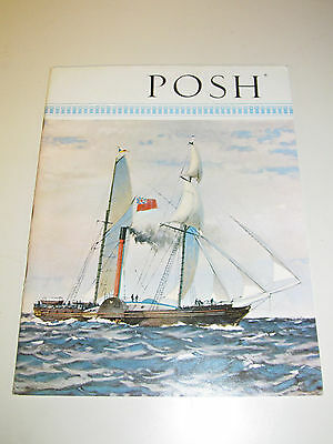 P&O Orient Lines POSH Magazine Peninsular Oriental Steam Navigation 1962