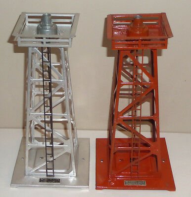 Lot Of 2 Lionel Train Railroad No.394 Tower Beacon O-Scale Accessory Working