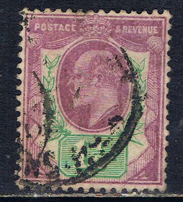 Great Britain #129(1) 1902 1 1/2 pence violet & green Edward VII Used SCV$10.00